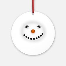 Snowman Face DARKS Ornament (Round)
