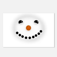 Snowman Face DARKS Postcards (Package of 8)