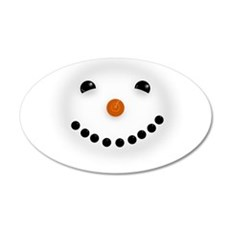 Snowman Face DARKS Wall Decal