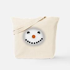 Snowman Face DARKS Tote Bag