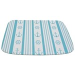 Anchor Nautical Turquoise Bathmat