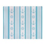 Anchor Nautical Turquoise Throw Blanket