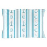 Anchor Nautical Turquoise Pillow Case