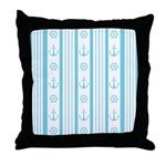 Anchor Nautical Turquoise Throw Pillow
