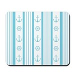 Anchor Nautical Turquoise Mousepad