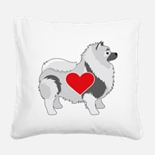 Keeshond Square Canvas Pillow