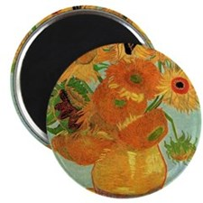 Vase with Twelve Sunflowers, Van Gogh Magnet