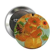 "Vase with Twelve Sunflowers, Van Gogh 2.25"" Button"