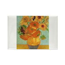 Vase with Twelve Sunflowers, Van Gogh Magnets