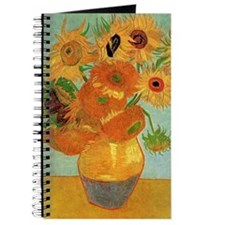 Funny Sunflower van gogh Journal