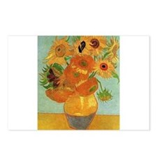 Funny Sunflower van gogh Postcards (Package of 8)