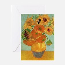 Vase with Twelve Sunflowers, Van Gogh Greeting Car