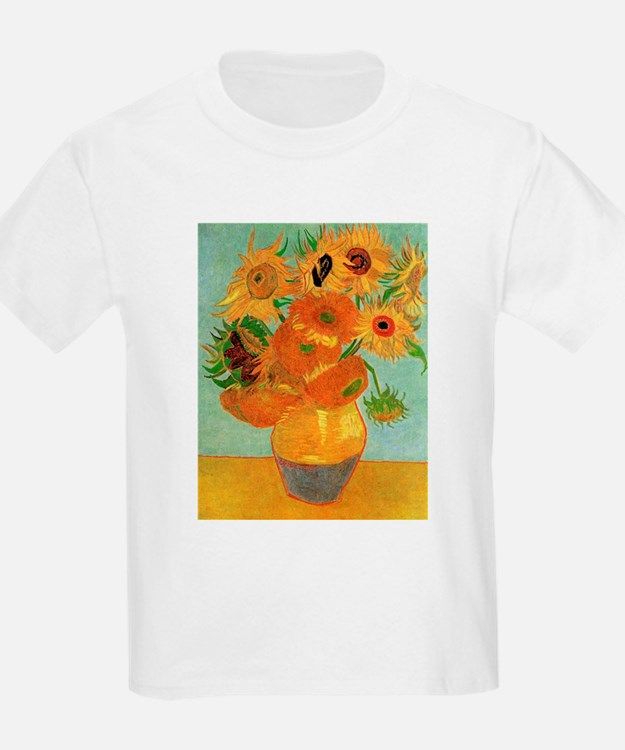 Vase with Twelve Sunflowers, Van Gogh T-Shirt