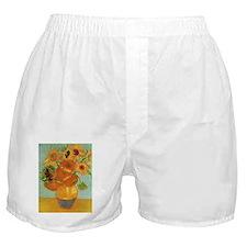 Funny Sunflower van gogh Boxer Shorts