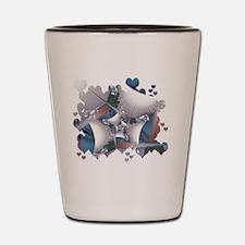 Hearts Galore Fractal Shot Glass