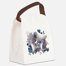 Hearts Galore Fractal Canvas Lunch Bag