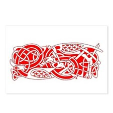 Red Celtic Postcards (Package of 8)
