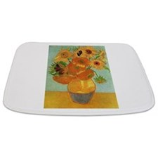 Cute Sunflower van gogh Bathmat