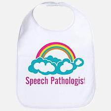 Cloud Rainbow Speech Pathologist Bib