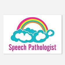 Cloud Rainbow Speech Path Postcards (Package of 8)