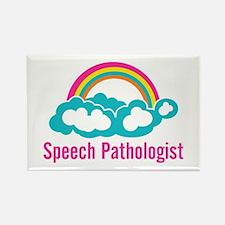 Cloud Rainbow Speech P Rectangle Magnet (100 pack)