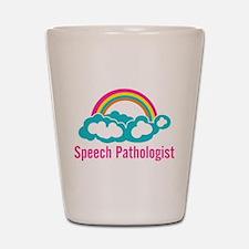 Cloud Rainbow Speech Pathologist Shot Glass