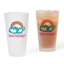 Cloud Rainbow Speech Pathologist Drinking Glass