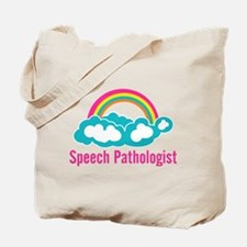 Cloud Rainbow Speech Pathologist Tote Bag