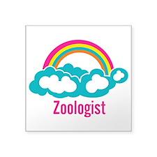 "Cloud Rainbow Zoologist Square Sticker 3"" x 3"""