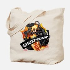 Ghost Rider Flames Tote Bag
