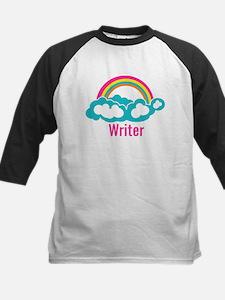 Rainbow Cloud Writer Kids Baseball Jersey
