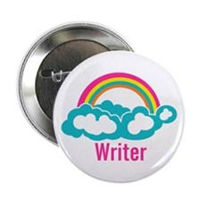 "Rainbow Cloud Writer 2.25"" Button"