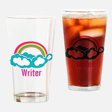 Rainbow Cloud Writer Drinking Glass