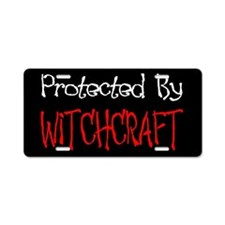 """Protected By Witchcraft"" Aluminum Licen"