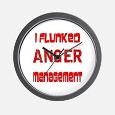 Funny Anger management Wall Clock