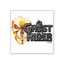 "Ghost Rider Logo Square Sticker 3"" x 3"""