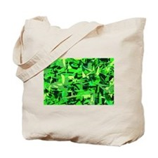 Abstract Retro Green and Blac Tote Bag