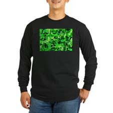 Abstract Retro Green and Blac T