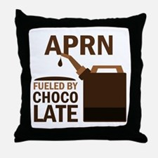 APRN Fueled by chocolate Throw Pillow