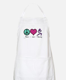 Peace- Love- Running BBQ Apron