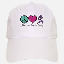 Peace- Love- Running Baseball Baseball Cap