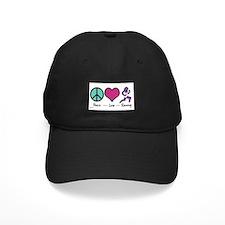 Peace- Love- Running Baseball Hat