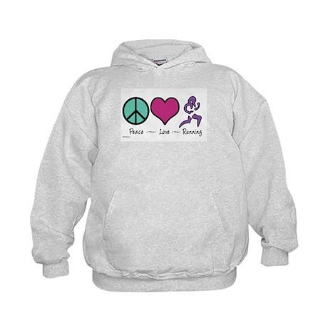 Peace- Love- Running Kids Hoodie