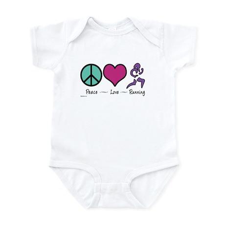 Peace- Love- Running Infant Bodysuit