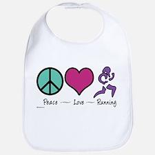 Peace- Love- Running Bib