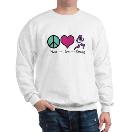 Peace- Love- Running Sweatshirt