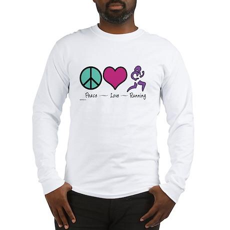 Peace- Love- Running Long Sleeve T-Shirt