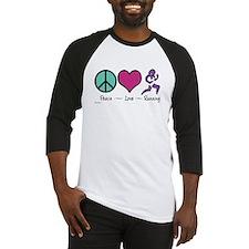 Peace- Love- Running Baseball Jersey