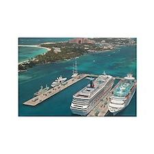 Cute Caribbean cruise Rectangle Magnet (10 pack)