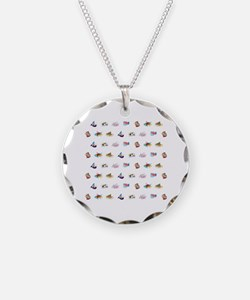 Cute Sushi Necklace Circle Charm